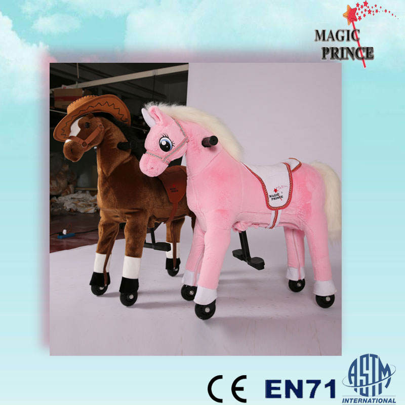 Pony Horse Riding Toys UFREE Large Ride On Horse, Mechanical Ride on Horse ,unique walking ride on toy horse Bounce up and Down