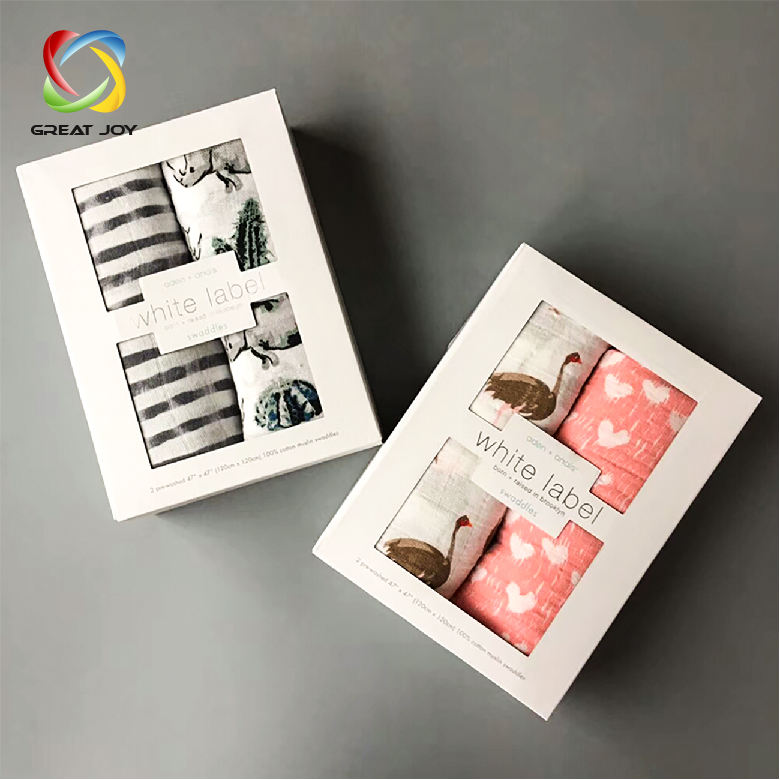 recyclable offset printing custom baby blanket gift packaging box