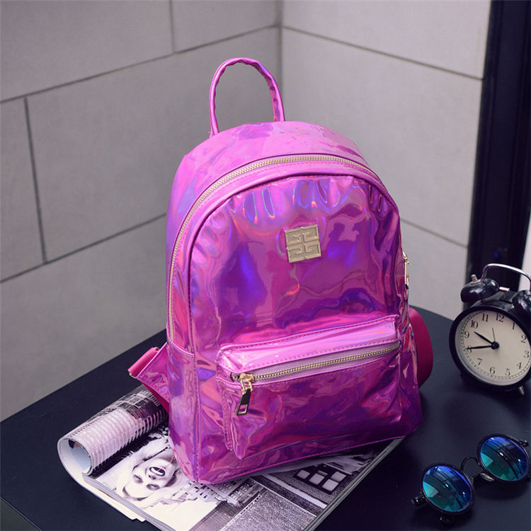 2019 PVC Korean Glitter Shining Sequin Backpack Waterproof Glitter Laptop Backpack for Girls