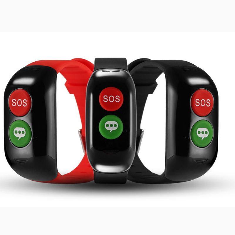 bluetooth sos button bracelet GPS and APP tracking