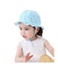 Baby Toddler Girls Large Brim Sun Hat with Chin Strap Cotton UPF 50+ Sun Protection Bucket Hat Fisherman's Hat for Baby Girls 6-