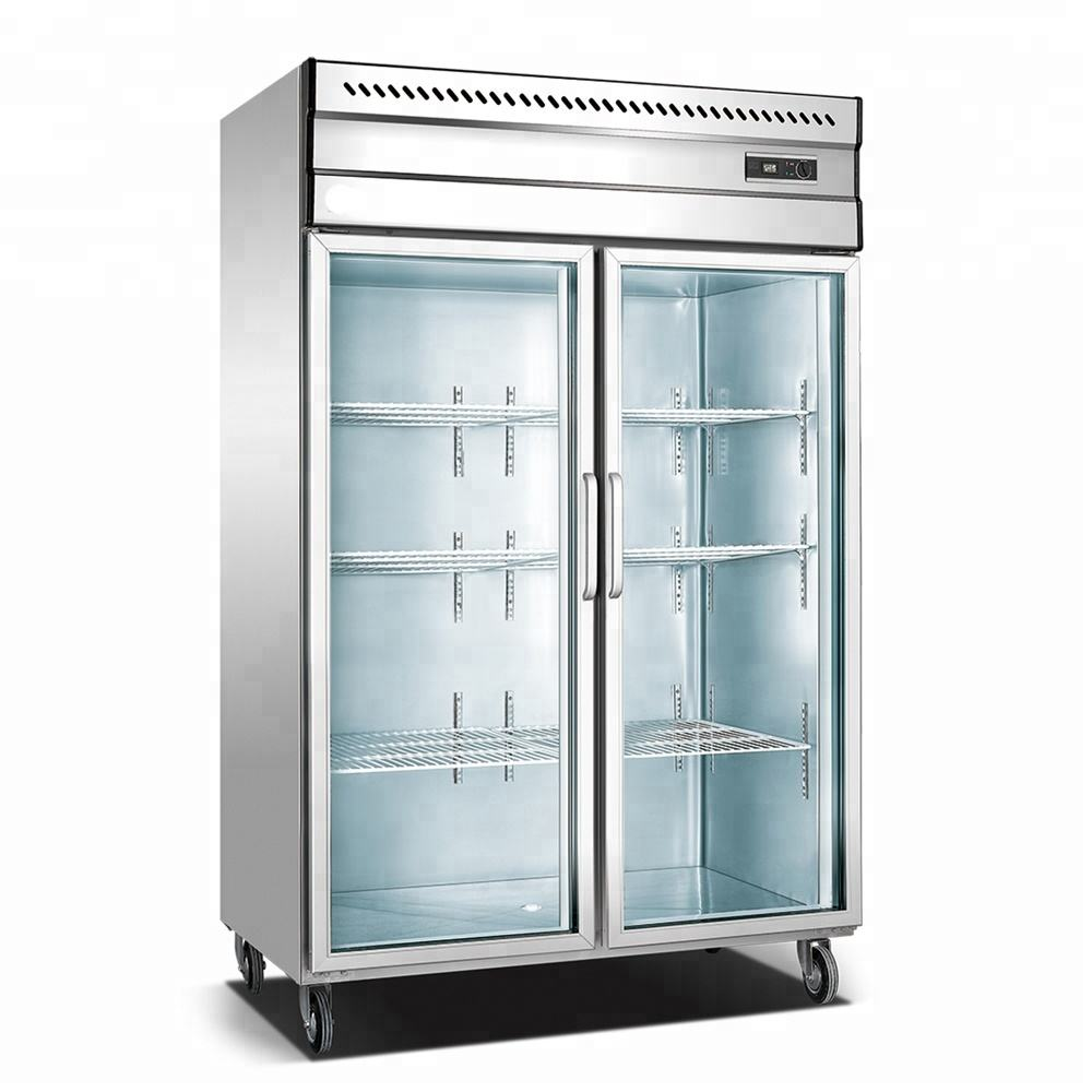 1000L New Style supermarket stainless steel Commercial Refrigerator
