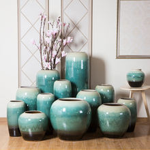 2018 China home decor wholesale ceramic floor vase for interior decoration