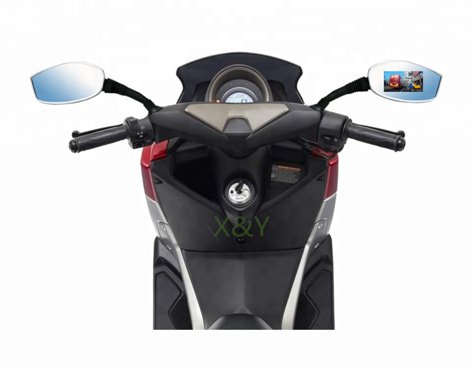 Saferdriving Motorcycle mirror camera recorder motorbike dvr dash camera XY-MD01