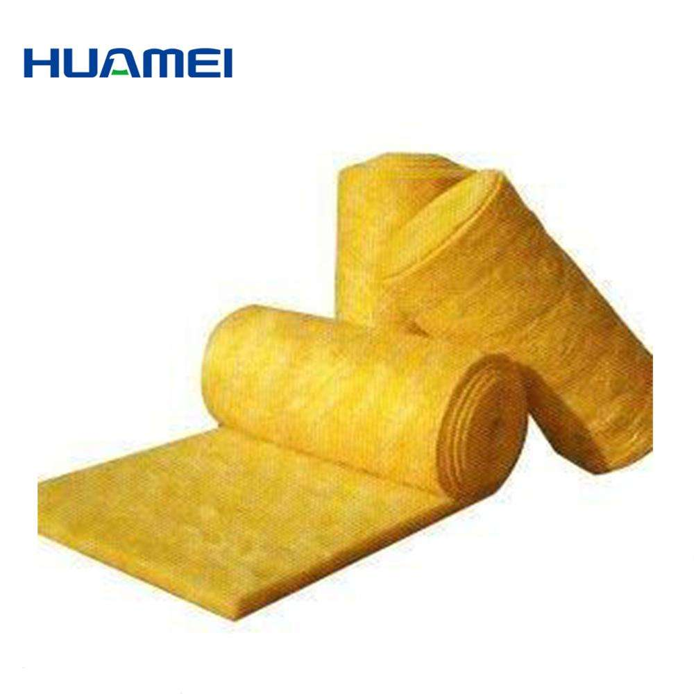 Soundproof and fireproof heat insulation Fiber glass wool blanket roll for wall insulation