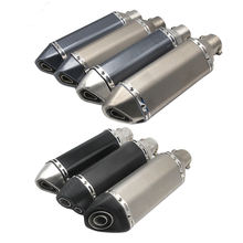 Racing Modify Exhaust Pipe Muffler FZ6 CBR250 CB600 MT07 ATV Dirt Bike Exhaust