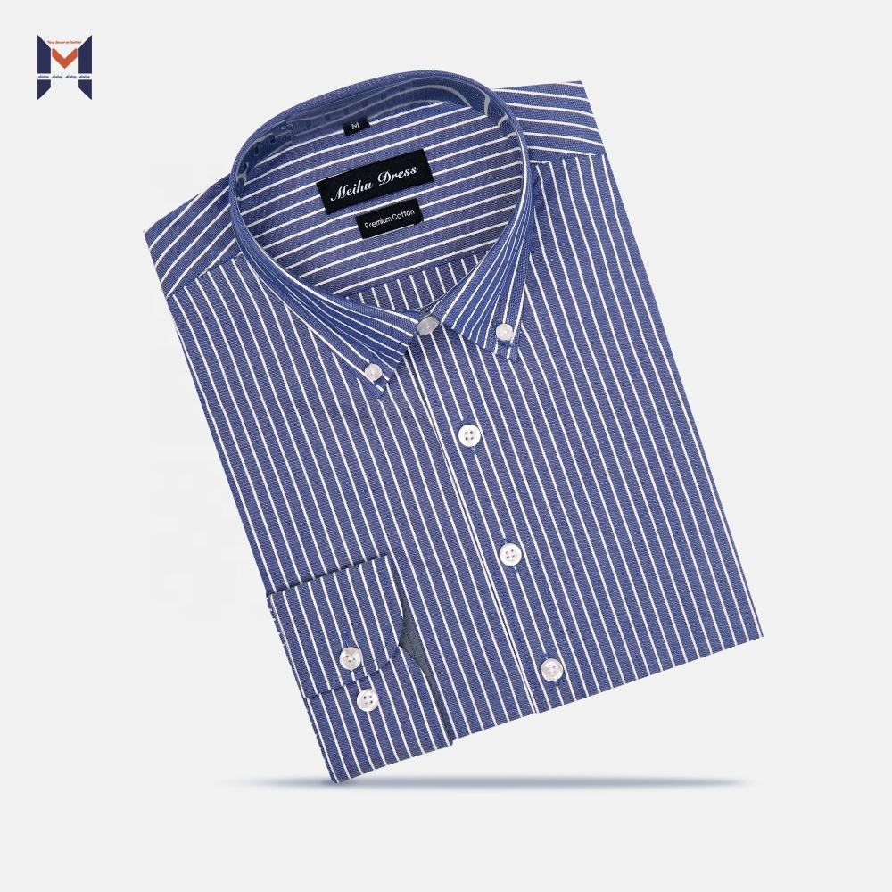 2020 NEW 100% POPLIN COTTON OEM&ODM SERVICE HIGH QUALITY WHOLESALE FACTORY STRIPES DRESS SHIRT FOR MEN
