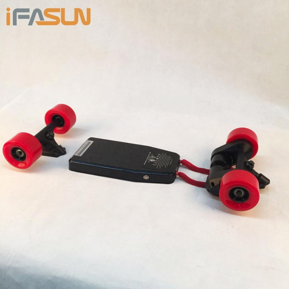 iFASUN DIY Wheels Longboard Skateboard 10 inch hand board Blank Deck Electric Skateboard