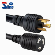 American NEMA L6-20 Locking Generator power extension cord twist lock plug L6-20P to L6-20R mains cable used in USA US market