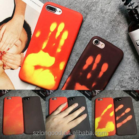 Heat sensitive Back case Cover Temperature Changing for iPhone X 8 6 6S 7 7 Plus