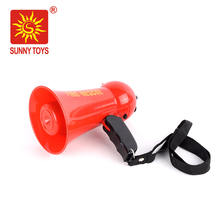 Pretend play fire fighting bullhorn plastic toy megaphone with sound