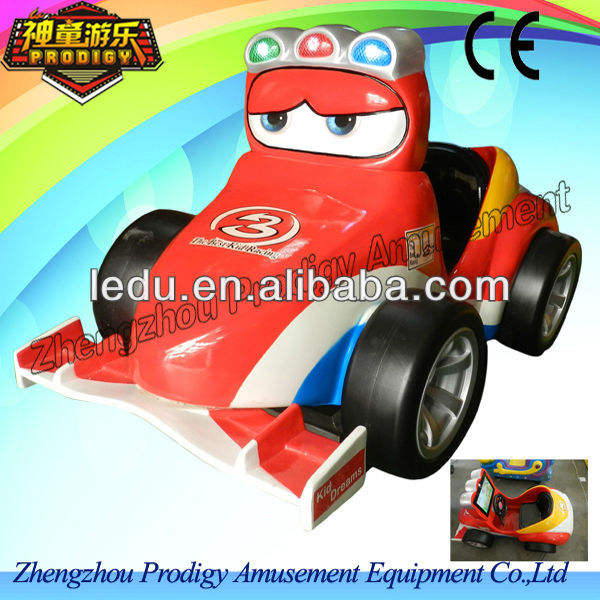 Hot kiddy ride machine /kiddie ride fiberglass toys - F1 Racing car with interactive video game