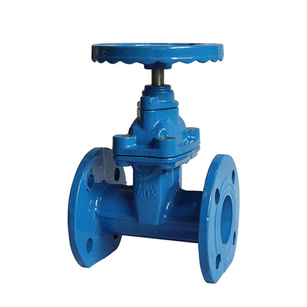 COVNA DN125 5 inch PN40 Large Diameter Cast Iron Trim Parallel Water Seal Slide Marine Gate Valve with Cad Drawings