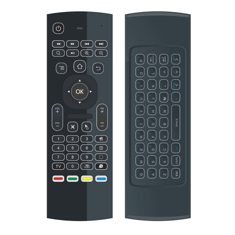 81 Key 2.4G WIRELESS Air Mouse Voice Keyboard + IR Learning Two Side MX3 Remote Control Smart TV,IPTV,MINI PC,HTPC,ANDROID TV BOX