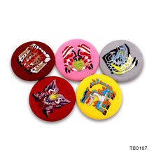 Wholesale Cheap Custom Badges Embroidery Button Badge Maker