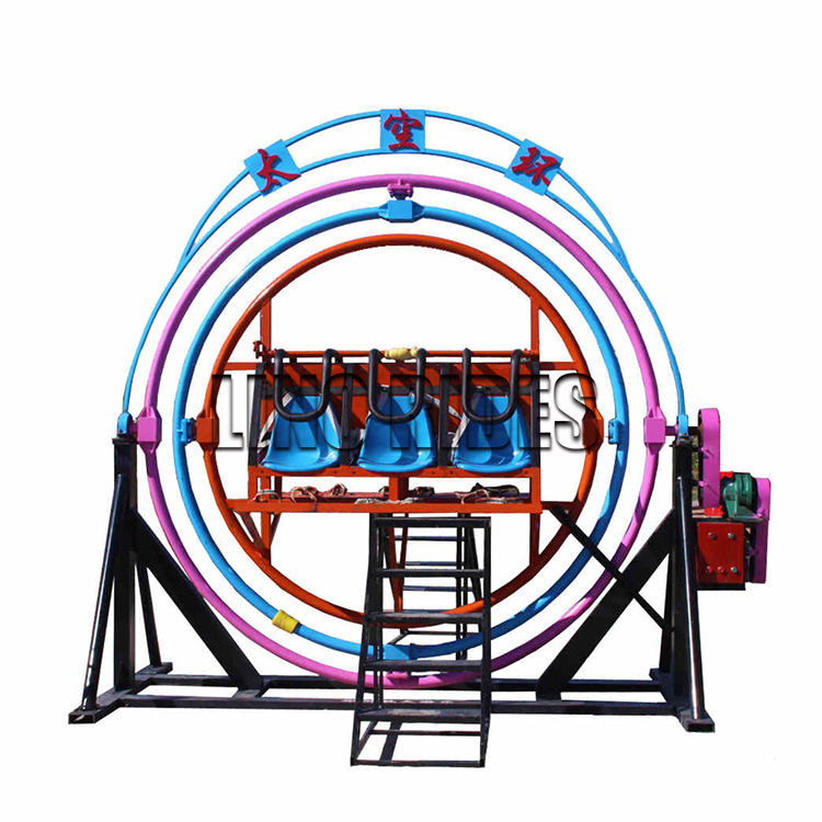 3D space ball theme park fun equipment human gyroscope rides company price