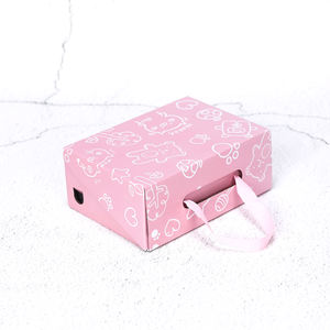 wholesale factory custom fancy gift box pink corrugated gift box christmas wedding packaging shoe boxes