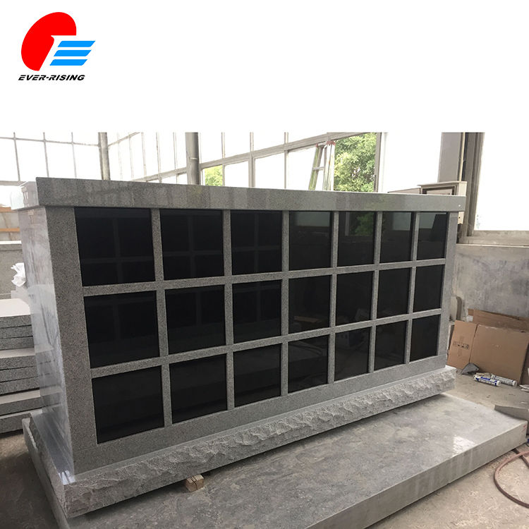 64 Niche Grey Granite Columbarium Design