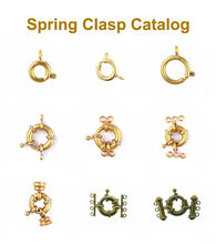 jewelry findings spring clasp - metal brass cooper alloy spring clasp for necklace bracelet making wholesale