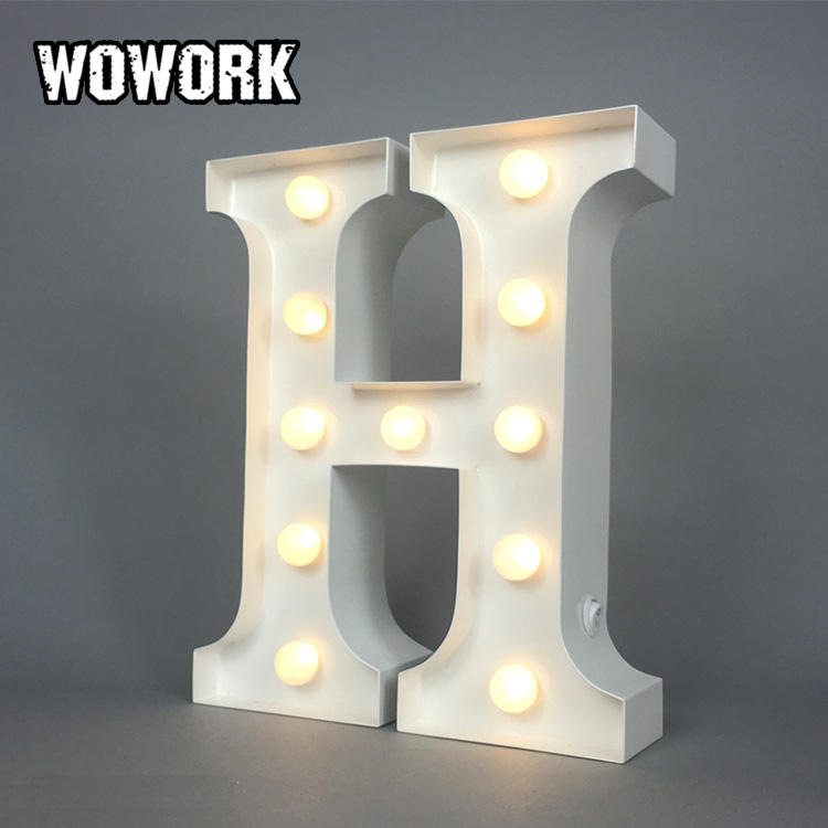 WOWORK cheapest creative fairy xmas mini white letter battery powered with timer