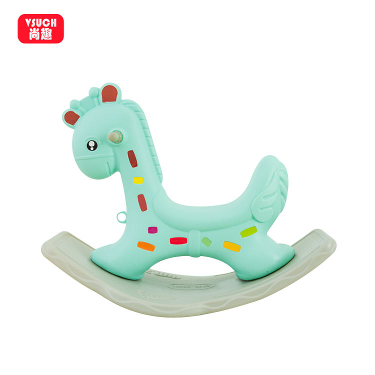 China Manufacturer Baby Children's Babies Cartoon Plastic Rocking Horse Chair Horses