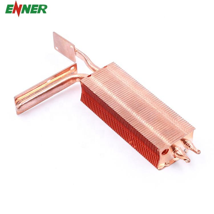 Customized High Precision Skiving Copper Heat Pipe Heatsink