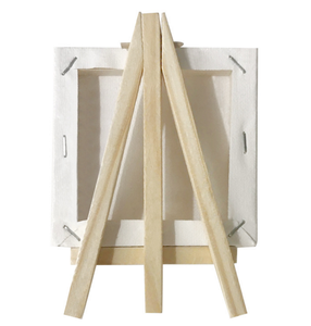 Wholesale Wooden Mini Easel Stand And Canvas Set