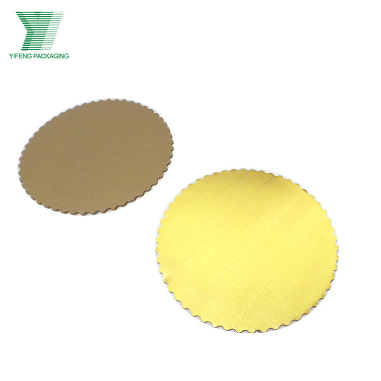 Wholesale custom shape golden and silver paper board cake board for desserts mini cake drums
