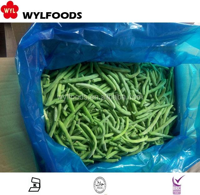 Китайская оптовая iqf зеленый фасоль стручковая фасоль