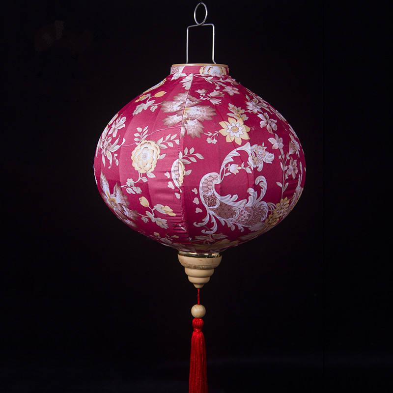 Newest Design Silk Lanterns Vietnam Led Floating