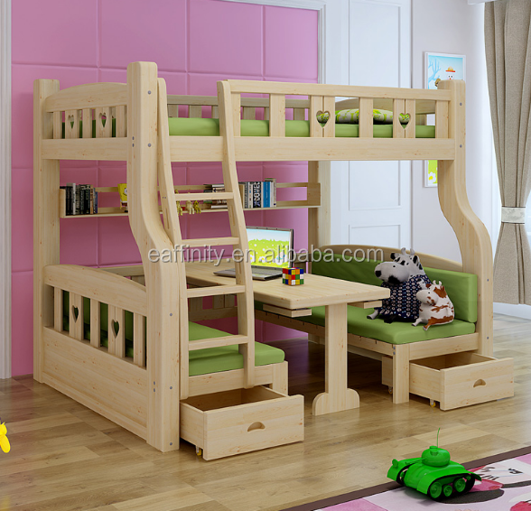 KS-YH-854 Natural pine bed new model designs simple bed best price