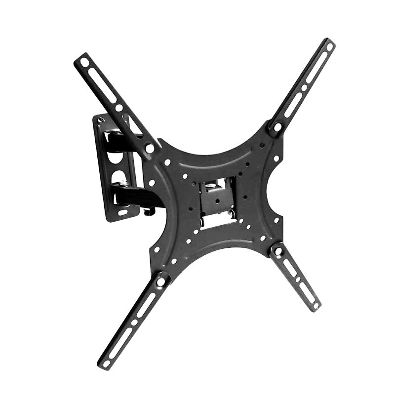 TW-117B-2 Black Universal Tilt TV Wall Mount Bracket Tilt Swivel LED LCD