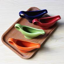 wholesale 40ml colorful ceramic stoneware gravy boat