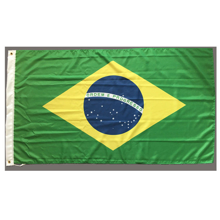 Factory Made Cheap Polyester Printed Brazil National Flag