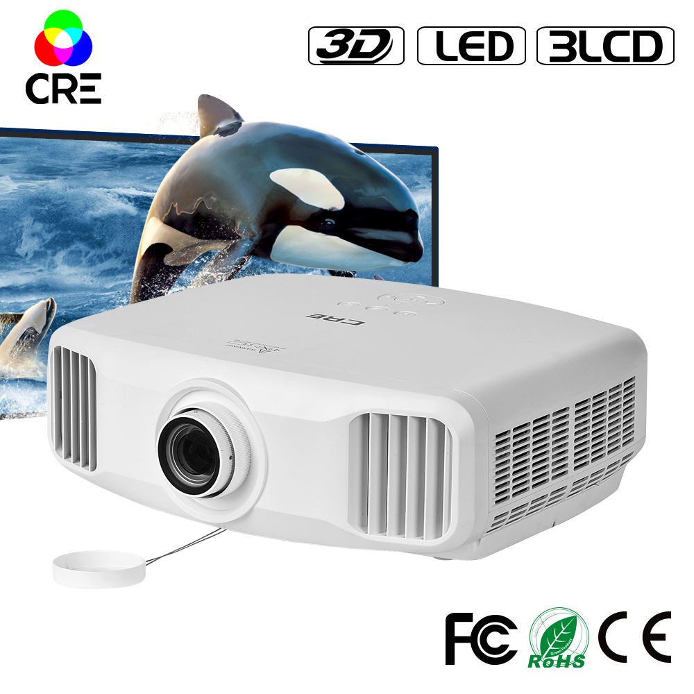 1080 p full hd 4 k 3LCD 3D home theater proyektor cre x8000