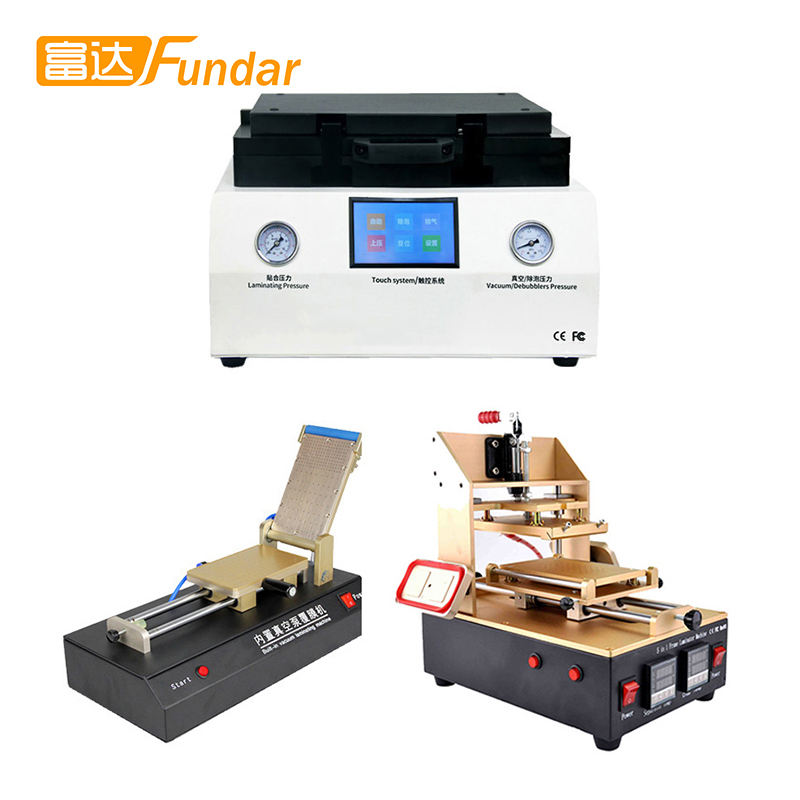 808 LCD OCA Vacuum Laminating Machine+S500L 5in1 LCD Separator/Frame Laminating Machine+761 Vacuum Film Laminating Machine