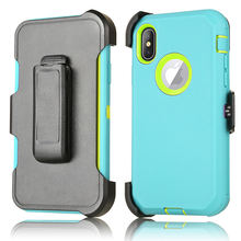 Rugged Protective Cover CellPhone Holster Belt Clip Kickstand Robot Armor Case For Iphone X