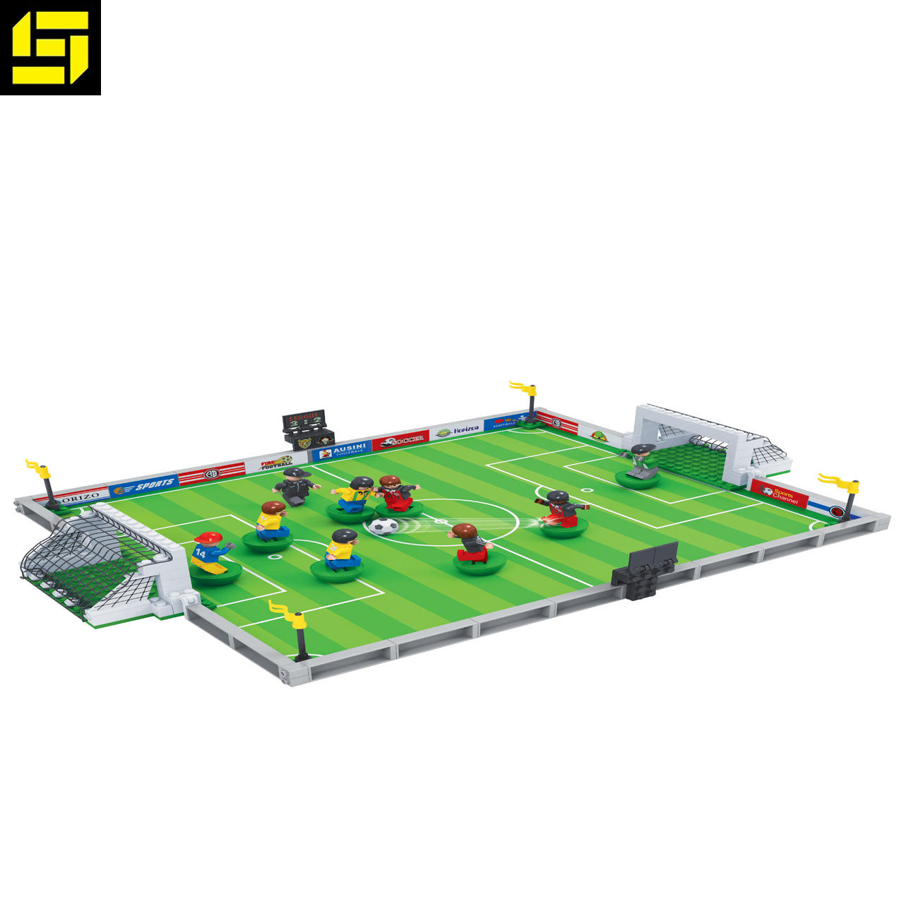 hot selling bricks city football field B-02 hot design building blocks
