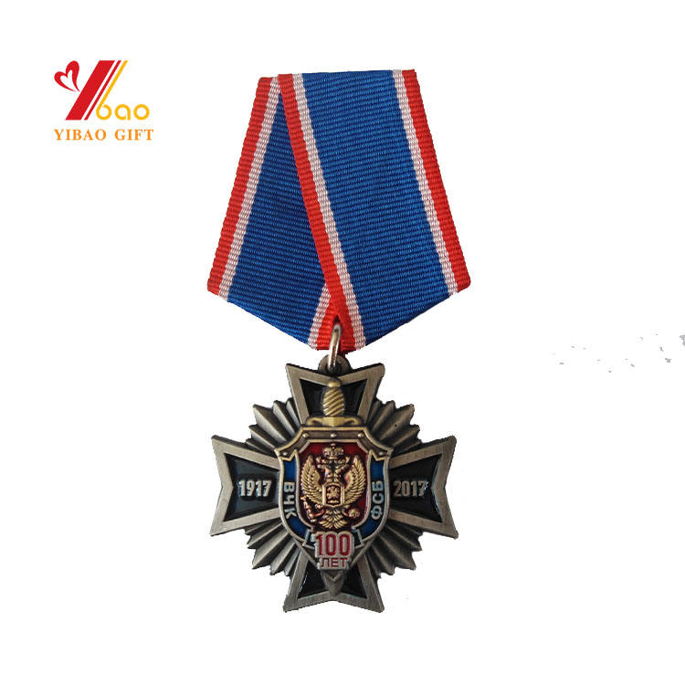 China Ribbon Custom Color Zinc Alloy Big Medals Russia Soviet Screw With Nut Award Sports Medal