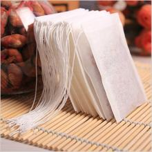 China Hot Stock White Biodegradable Drawstring Empty Filter Paper Tea Bag
