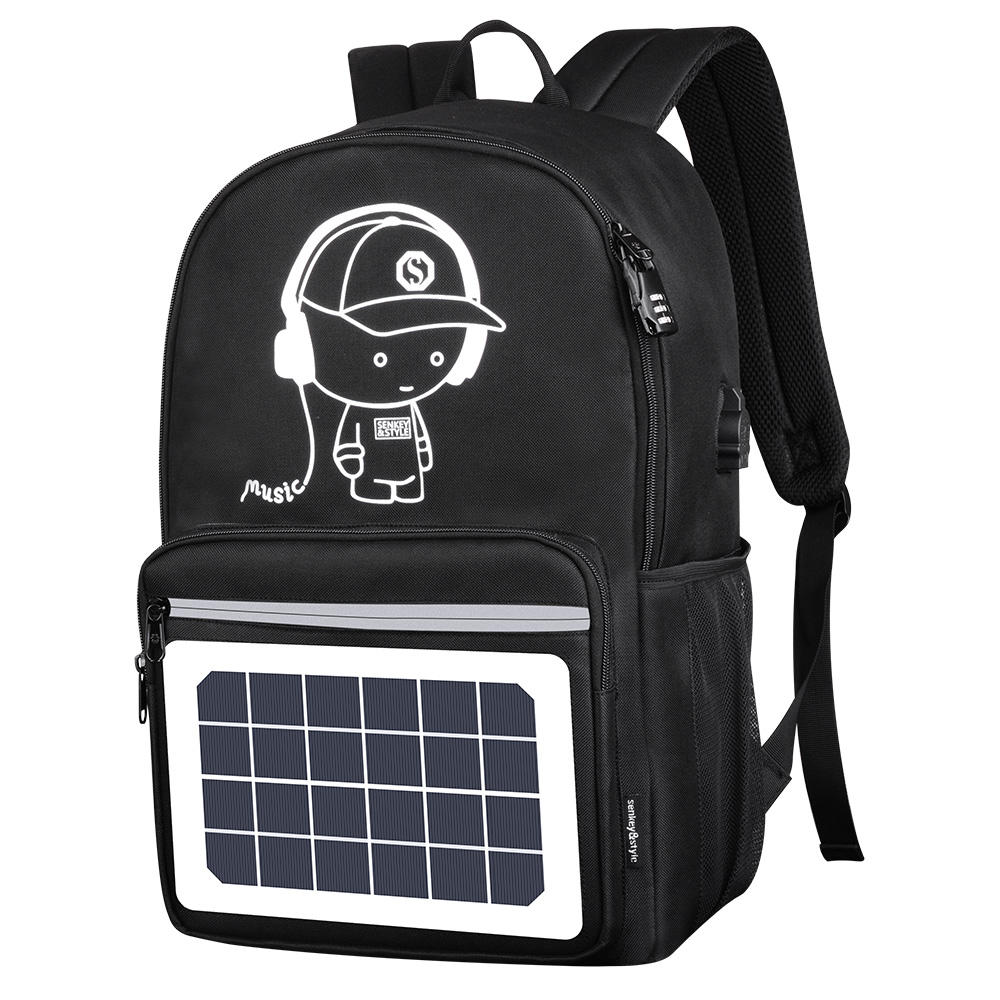 Solar Panel School Bags Fashion Luminous School Backpack For Teens