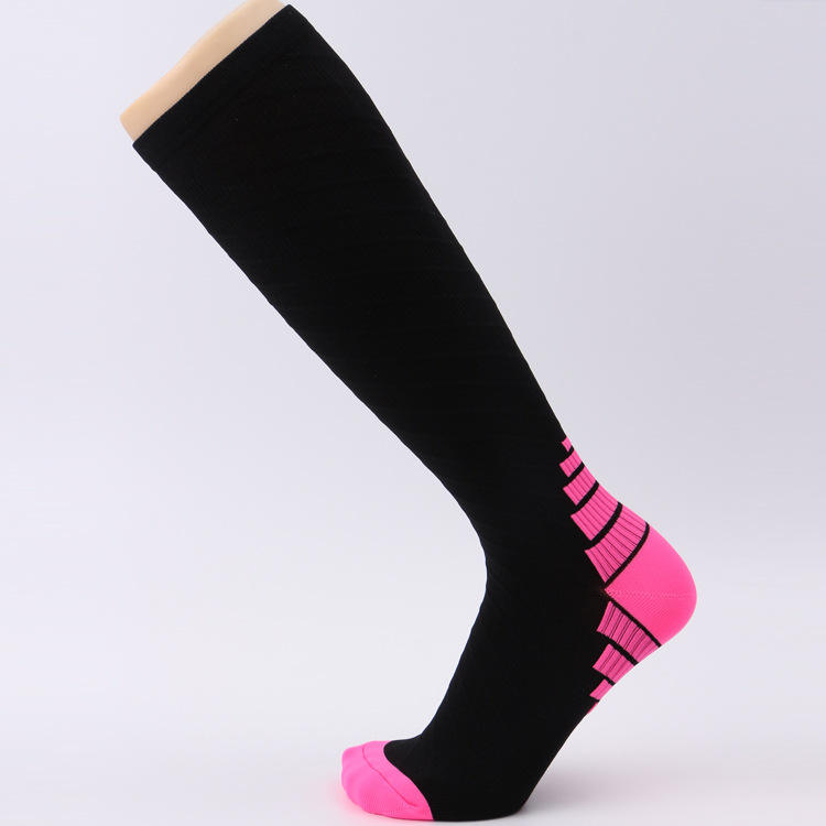 upgrade unisex cycling or running sports colorful custom compression socks
