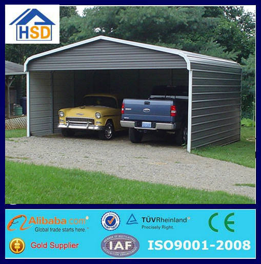 outdoor steel structure portable carport shed iron shelter mobile canopy