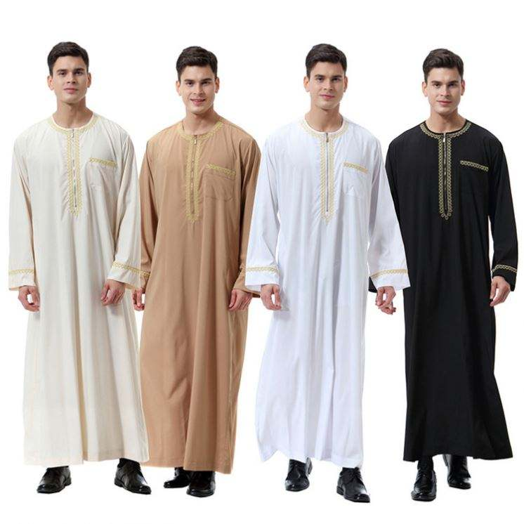 New Products Malaysia Middle East Thobe Islamic Knitted Clothing In Indian