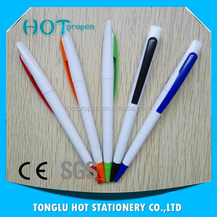 Cosas nuevas para la venta color sólido neb y clipballpoint pluma plástica