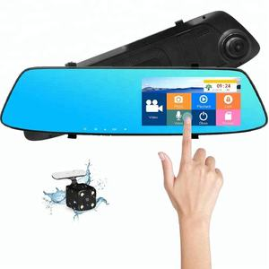 Best 5.0 inch mirror car camera recorder hd 1080p night vision dual dash cam