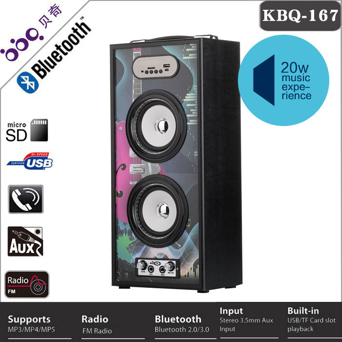 BBQ 20W marquee light karaoke bluetooth speaker cd player
