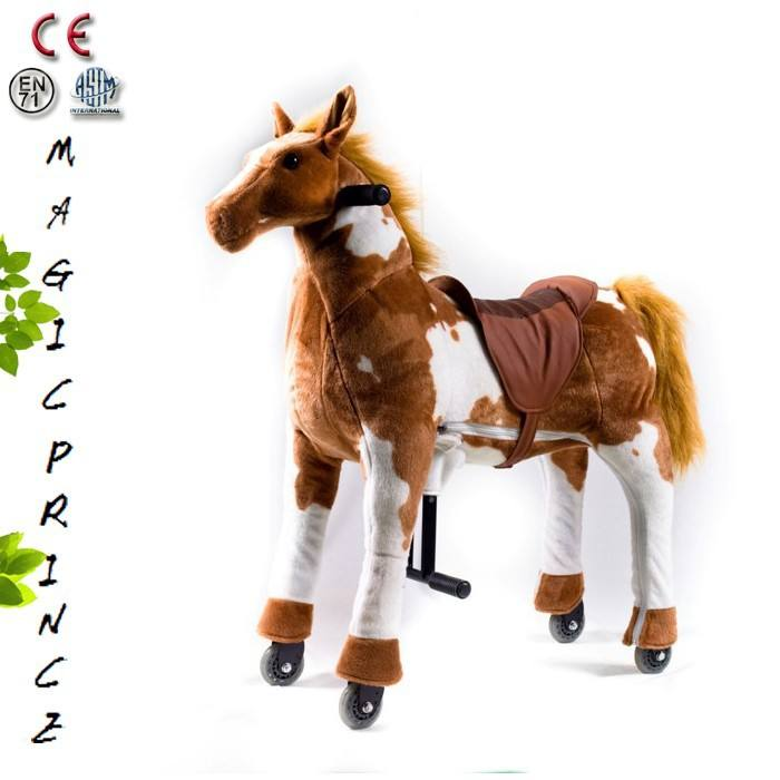 Horse Toys For Girls, High Quality Soft Plush Ride On Animal Horse Toy Pony Manufacture