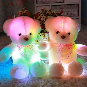 CPSIA new product giant teddy bear LED custom plush toys stuffed teddy bear funny valentines day gifts