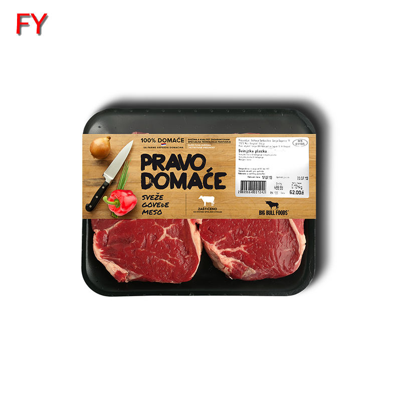 Free sample meat packaging label hot selling meat packaging label